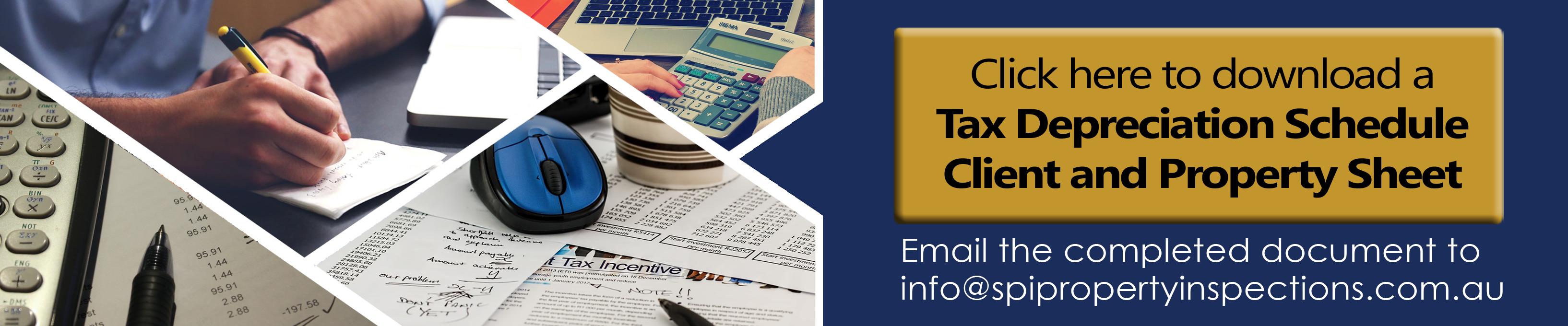 Tax Depreciation Schedule button