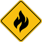 fire hazard sign